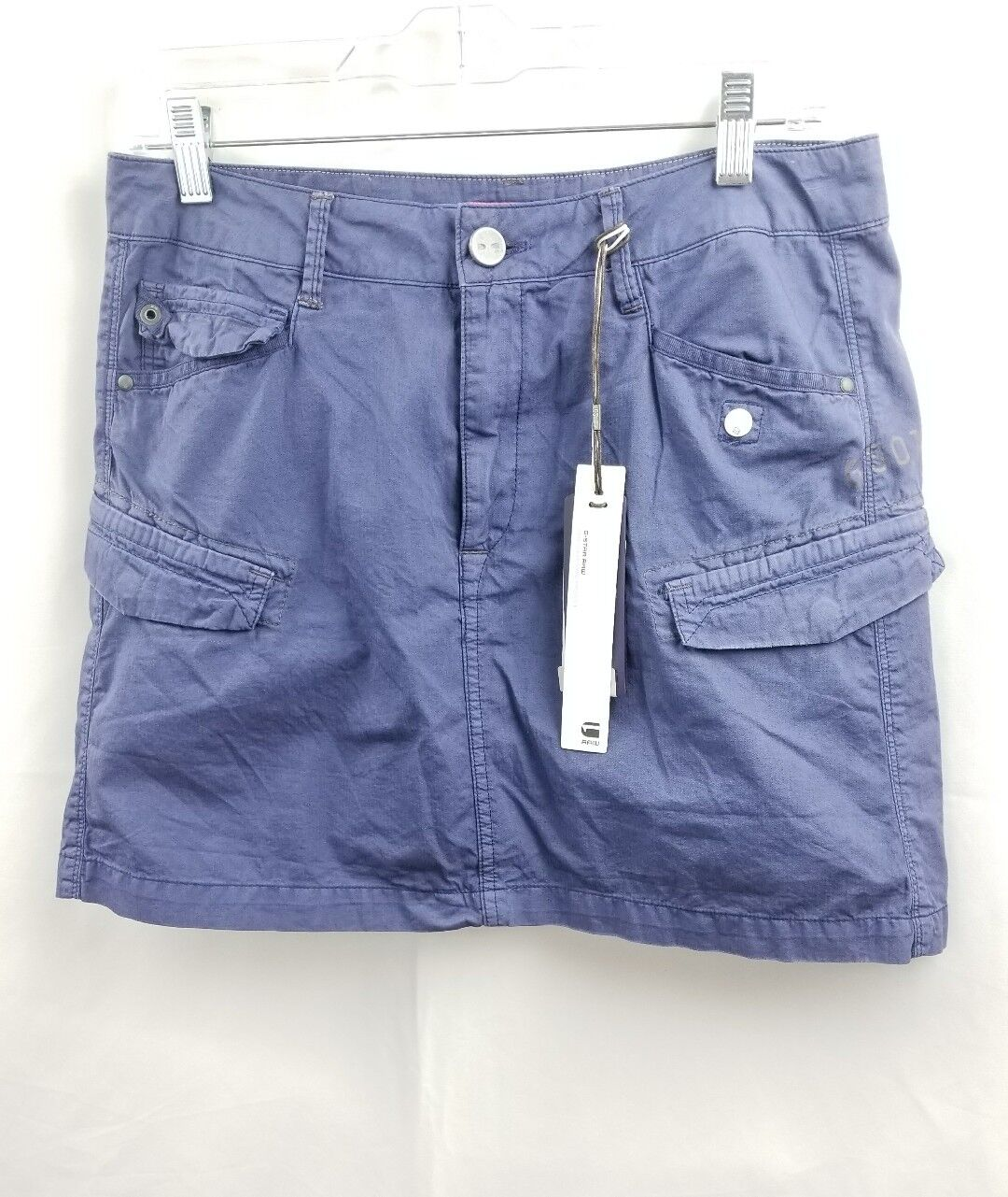 G Star Raw size 27 denim women  mini skirt with stretch panels bluee NWT