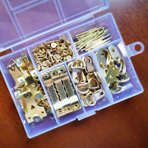 180-Piece-Picture-Hanging-Kit-Frame-Wall-Hooks-Wire-Nails-Painting-Canvas-Mirror