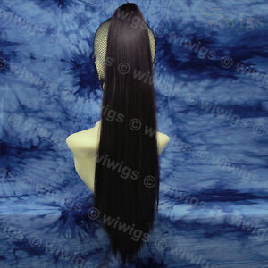Wiwigs-Dark-Brown-Long-Straight-Clip-In-Ponytail-Hairpiece-Extension
