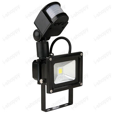 Detector PIR Motion Sensor LED Flood Light 10W Auto ON/OFF Lamp Bulb Gate Garden