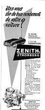 PUBLICITE ADVERTISING 034 1953 ZENITH STROMBERG carburateur voiture