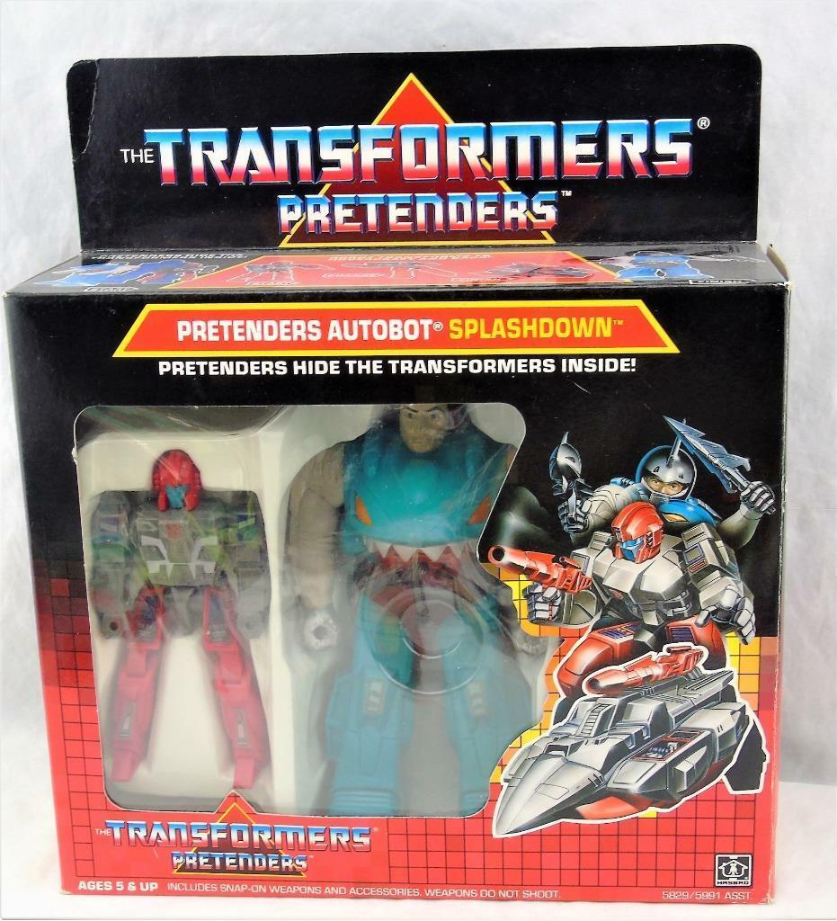 Transformers Original G1 1988 Pretender Splashdown Complete w  Box and Bubble