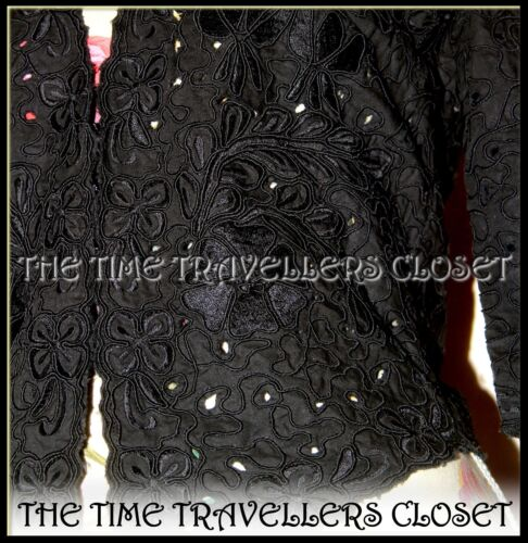 Black 6 10 Vintage Uk 38 Topshop Victorian Embroidered Moss Kate Jacket Cornelli ZqfERR