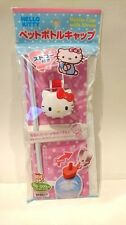 DAISO JAPAN  HELLO KITTY PET Bottle Cap with Straw Sanrio Ship to the US only
