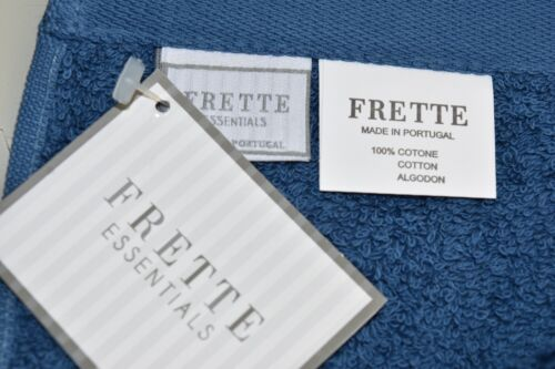 NEW Frette 2 PC Essential SUPERB Towel s Cotton Washcloth Prussian Blue