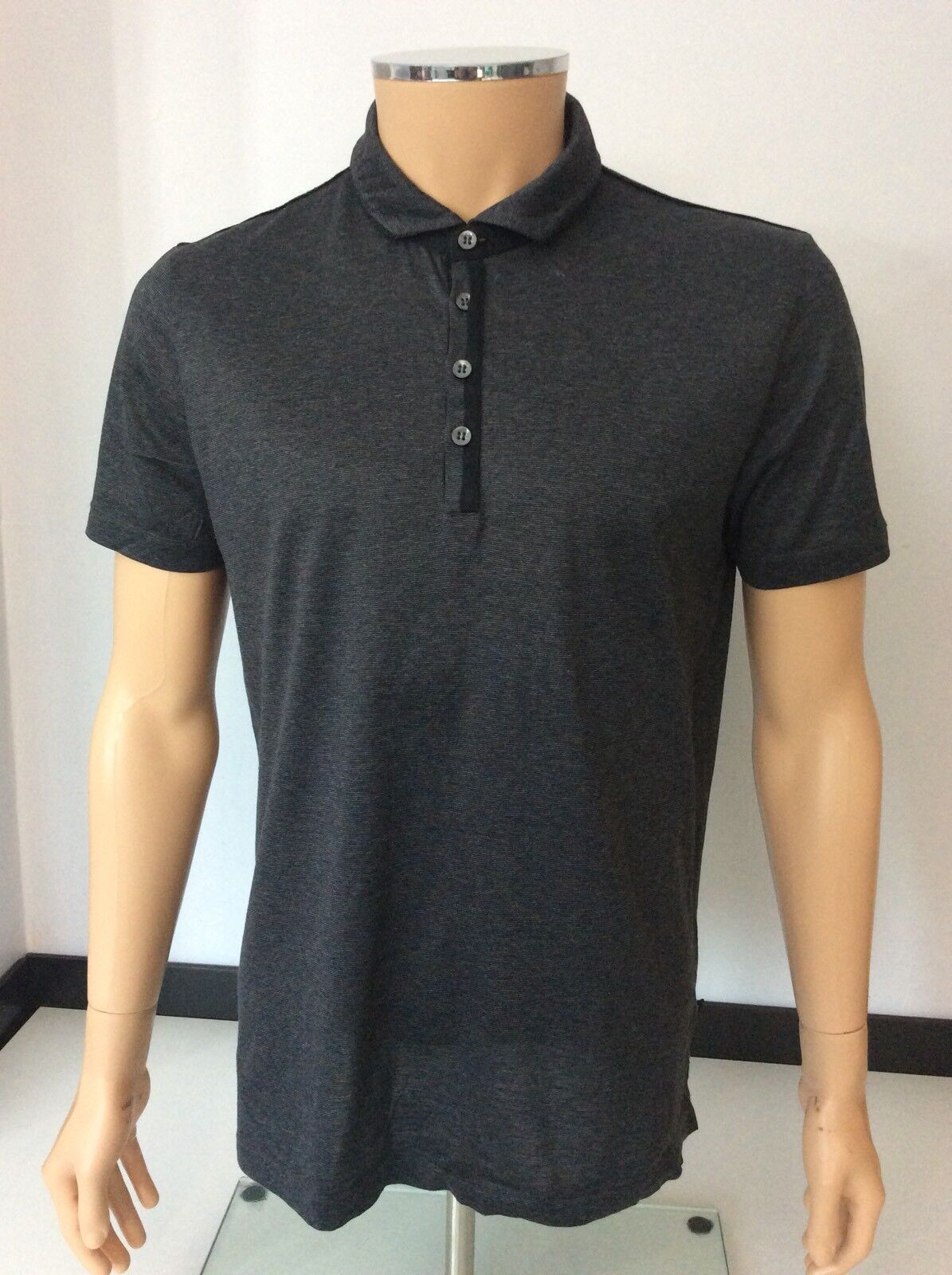 Hugo Boss Rapino 31 Men's Polo T Shirt, Size Large, Grey, VGC
