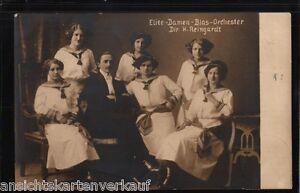 """235.287 Elite-Damen-Blas-Orchester """"Vergissmeinnicht"""", Dir. H. Reingardt, gl1914 - Marburg, Deutschland - 235.287 Elite-Damen-Blas-Orchester """"Vergissmeinnicht"""", Dir. H. Reingardt, gl1914 - Marburg, Deutschland"""