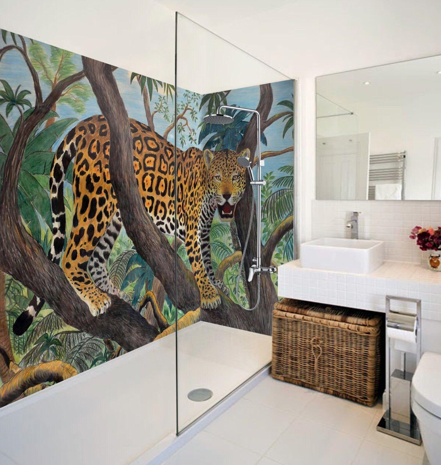 3D Leopard Branches 688 WallPaper Bathroom Print Decal Wall Deco AJ WALLPAPER AU