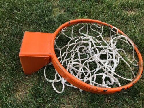 HEAVY DUTY SPRING LOADED SNAPBACK BASKETBALL RIM W NET PROFESSIONAL