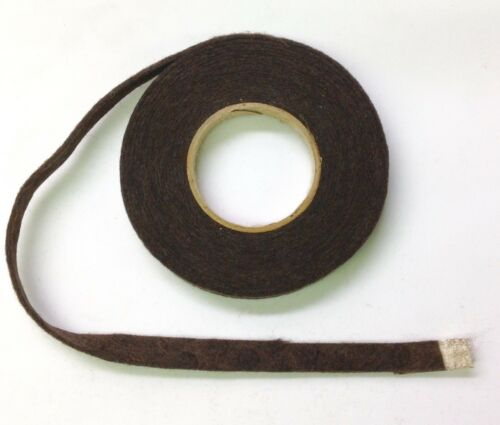 """3//8/"""" wide Brown .040/"""" thick 13 Foot Roll of Pressed Piano Felt"""