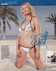 Franziska van Almsick - Silber Olympia 1992 Schwimmen, Original-Autogramm!