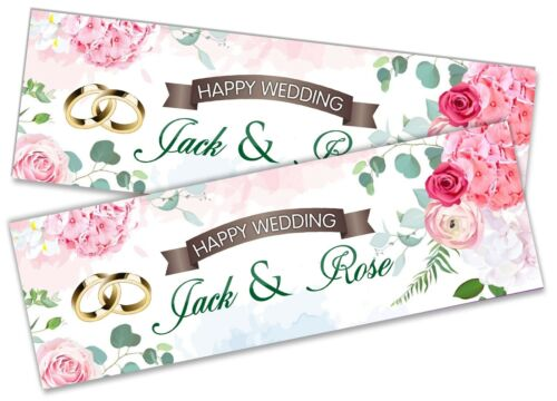 Details about  /x2 Wedding Banner Adult Party Celebration Marriage Mr and Mrs 54