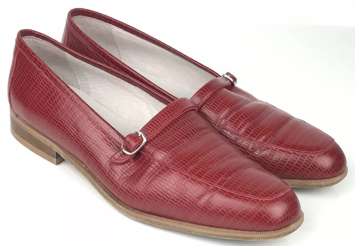 vendita online VINTAGE Donna TAPIRO Rosso Coccodrillo in Pelle Pelle Pelle Mocassino Taglia 8 41 Mocassini Scarpe RARE  fino al 50% di sconto