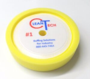 Yellow-Recessed-Back-Foam-8-034-Clean-Tech-Pad-Hook-amp-Loop-Gripping-Pad-3000G