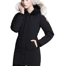 New Canada Goose 2017 'Victoria' Down Parka With Coyote Fur Trim Nwt Black