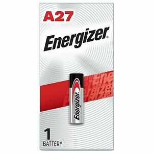 2 x Energizer A27 18mAh 12V Alkaline Button Top Battery Retail Card