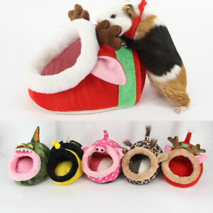 Details About Small Animal Soft Warm Bed Pet Hammock Hamster Rat Guinea Pig House Nest Pad New