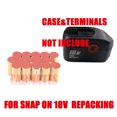 Battery Refilling For SNAP ON 18V volt CTB4185 CTB4187 3.0Ah Ni-MH