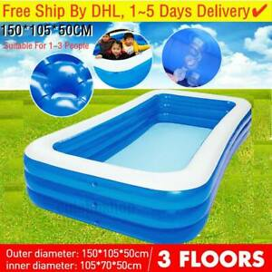 Large Summer Family Swimming Pool Outdoor Garden Inflatable Kids Paddling Pools