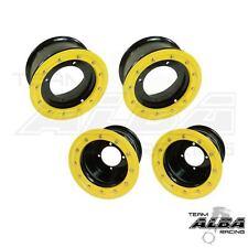 LTR 450 LTZ 400  Front  Rear Wheels  Beadlock 10x5  9x8  Alba Racing  bk/yl 41