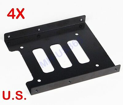"10-pack 2.5/"" to 3.5/"" Bay Metal Hard Drive HDD Mounting Bracket Adapter Tray"