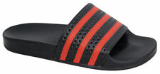Adidas Originals Adilette Mens Slip On Black Red Flip Flops Sliders UK 7 EU 40.5