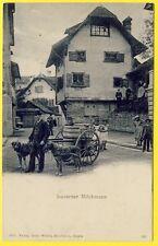 cpa SWITZERLAND LUZERN MILCHMANN LAITIER SUISSE DOGCART ATTELAGE de CHIENS