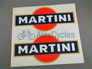 Pair of Sponsor MARTINI Style Racing Tuning Decals Stickers Blue