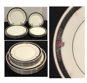 VINTAGE-Noritake-Ivory-China-Dinner-amp-Salad-Plates-ETIENNE-7260-Japan-10-PC-Set