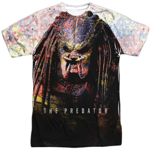 THE PREDATOR Movie Splatter Sublimation Officially Licensed Adult T-Shirt
