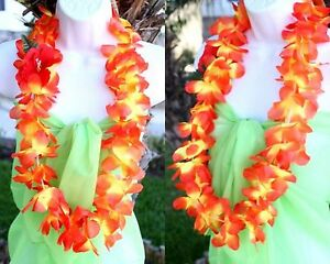 Six hawaiian hawaii silk flower lei luau party hula necklace qty 6 image is loading six hawaiian hawaii silk flower lei luau party mightylinksfo