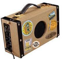 Luna Ukulele Suitcase Amp with 9V Battery and AC Adapter, UKE SA 5