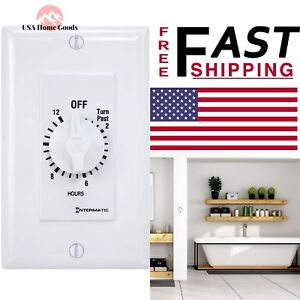 Intermatic Spring Wound In Wall 12 Hour Timer 20Amp Energy Saving White