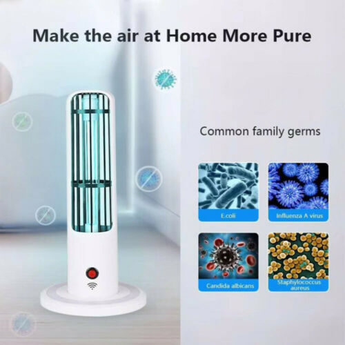 UVC Sterilizer Lamp Germicidal Remote Timer Disinfection Night Light Quartz Bulb