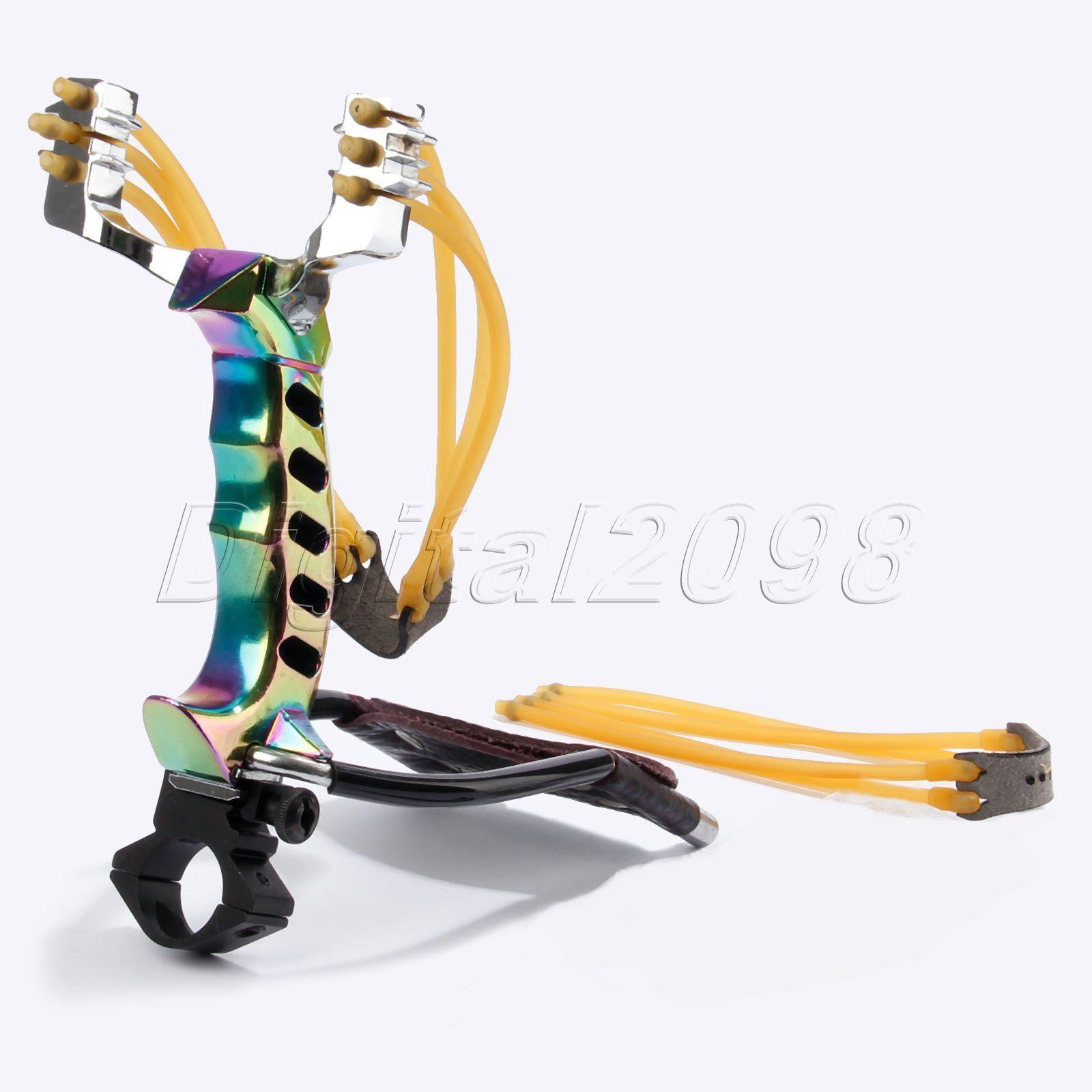 Powerful Sniper Slingshot Folding Wrist Brace High Velocity Hunting Catapult