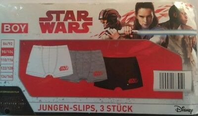 LEGO Star Wars Jungen 3 er Pack Slips 116 grau
