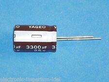Elko, radial, 3300µF (3300uF) / 25V / 105°C, 3 Stk. (Ø16x25mm)