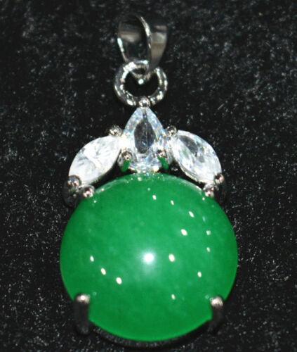 Charming 14x14mm Green emerald Jewelry crystal pendant zinc alloy