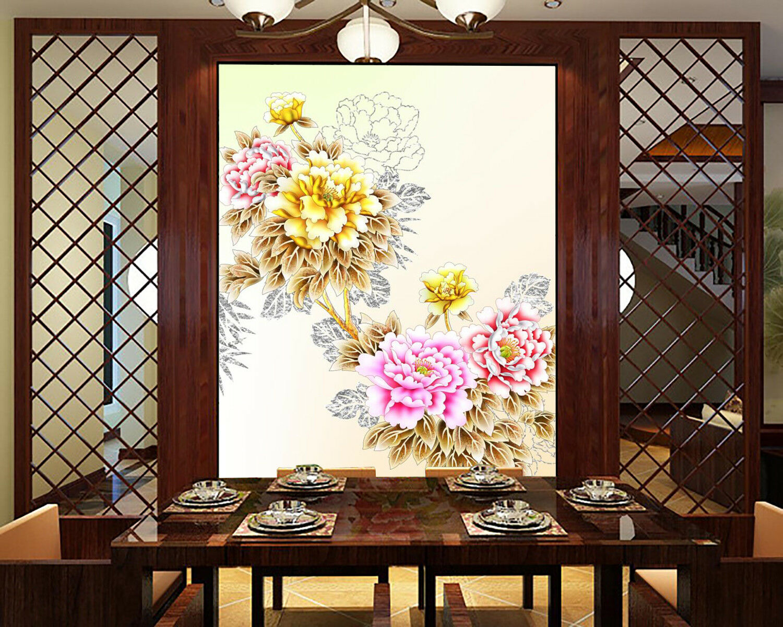 3D Flower Bloom 987 Wallpaper Mural Wall Print Wall Wallpaper Murals US Carly