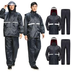 Unisex-Thicken-Motorcycle-Riding-Raincoat-Rain-Pants-Outdoor-Reflective-Clothes