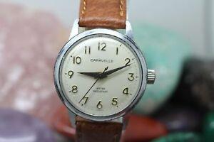 Vintage Caravelle Hand Wind Men's Wrist Watch Running