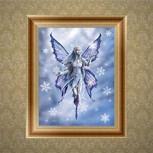 À faire soi-même 5D Diamant broderie lune ange peinture Cross Stitch Craft Home Decor