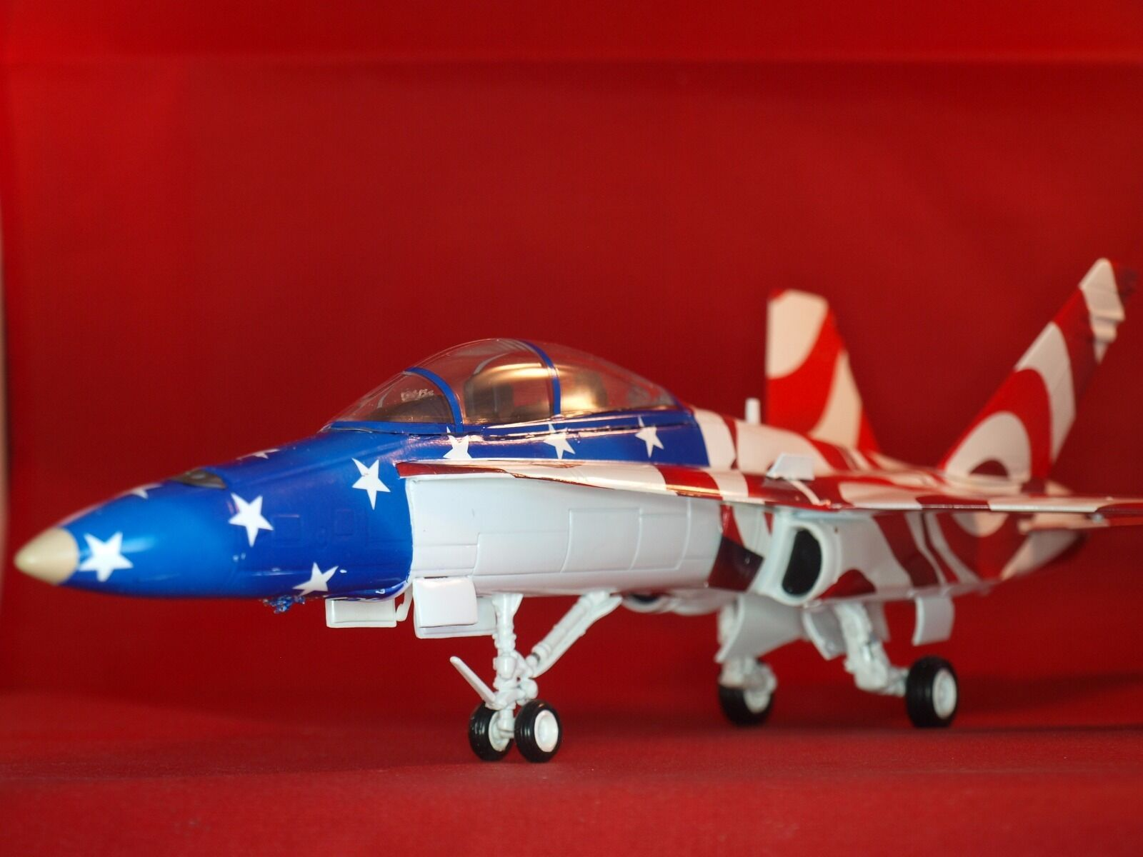 F-18D Hornet, Stars and Stripes, Limited Edition Franklin Mint Aircraft 1 48
