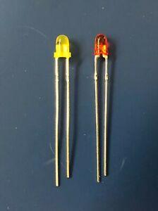 100Pcs//Bag 3mm LED Light Bulb Emitting Diode Red OR Yellow SUN LED