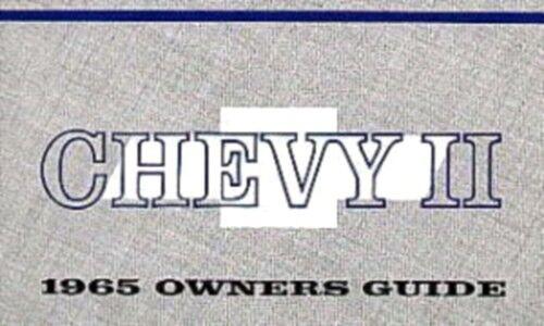 NOVA 1965 Owner/'s Manual 65 CHEVY II