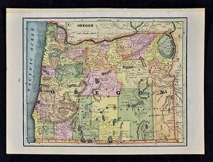 Fall City Oregon Map.C 1890 Cram Map Oregon Salem Astoria Eugene Portland Klamath Falls