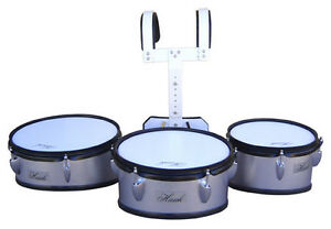 high school band marching tom drum trio set with harness clearance sale on now ebay. Black Bedroom Furniture Sets. Home Design Ideas
