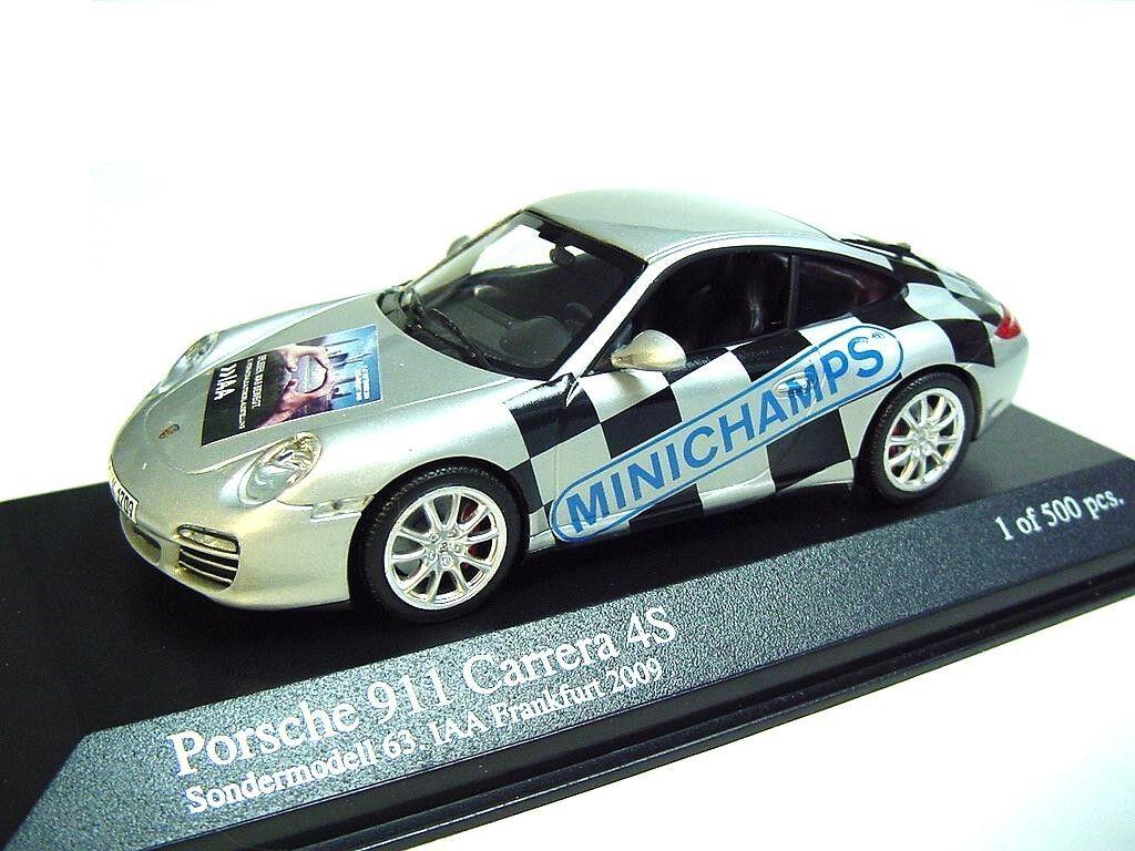 1 43 MINICHAMPS 2008 PORSCHE 911 997 Carrera 4S  IAA 2009  RARE PROMO MODEL