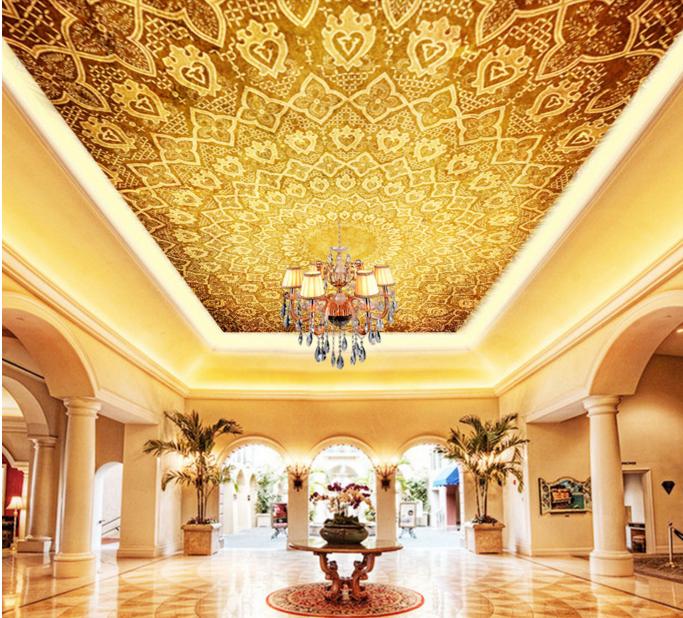 3D Golden Floral Gelb 797 Wall Paper Wall Print Decal Wall Deco AJ WALLPAPER