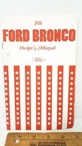 1976-FORD-Bronco-Original-Owner-039-s-Manual-Excellent-Condition-US